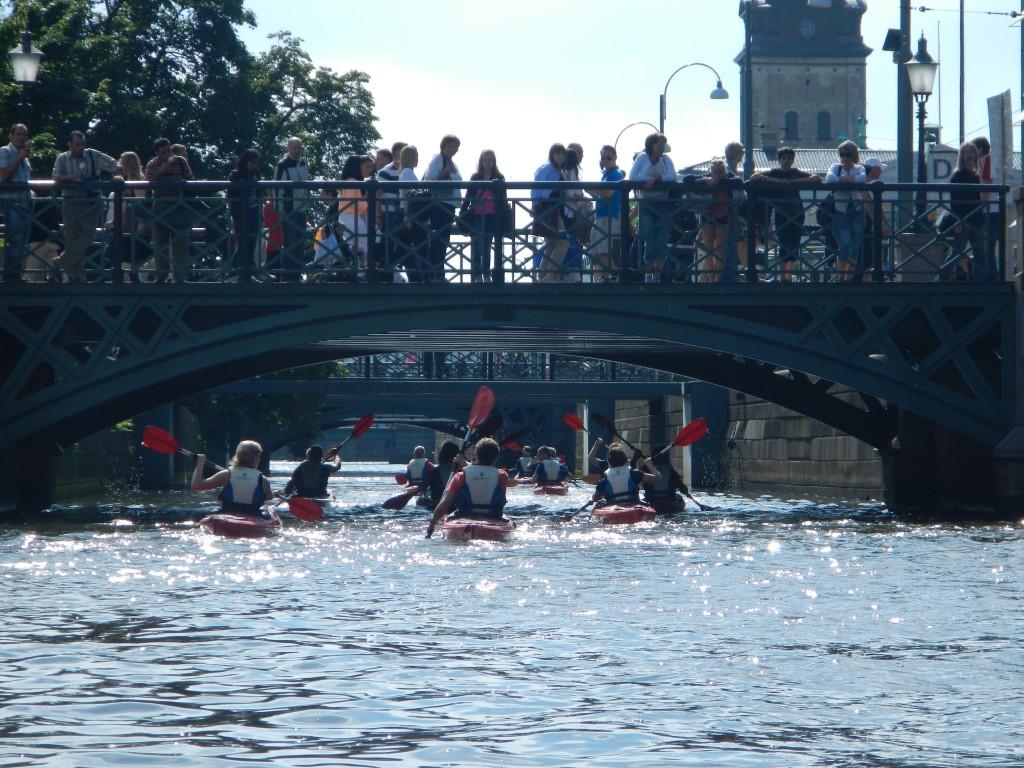 Paddla i Göteborgs kanaler